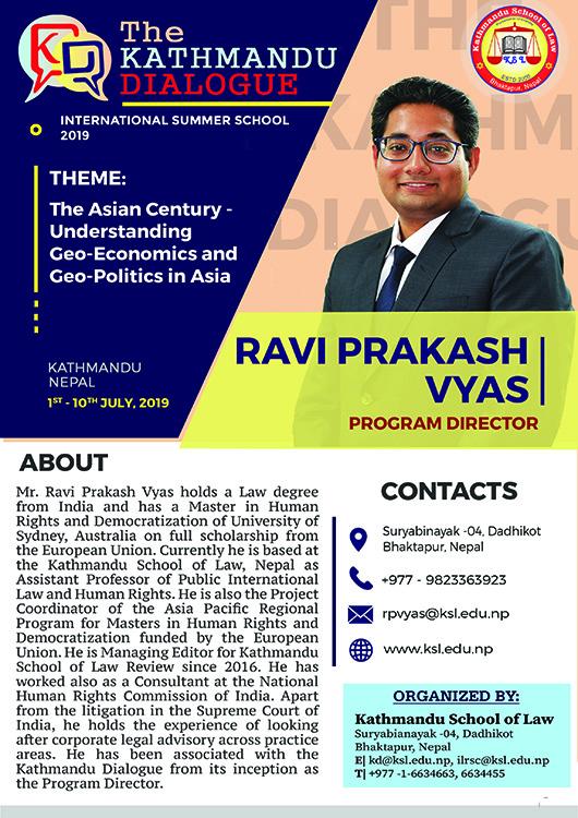 Program Director - The KD 2019 - Ravi Prakash Vyas