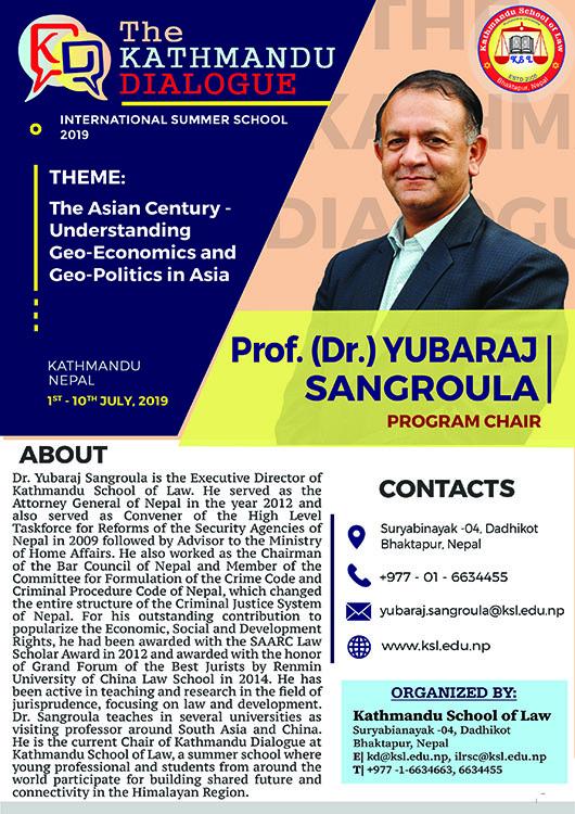 Program Chair - The KD 2019 - Prof. Dr. Yubaraj Sangroula